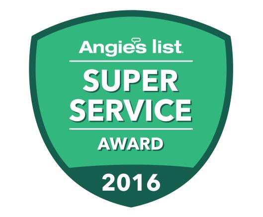 Blessing Landscapes wins Angie's List 2016 Super Service Award