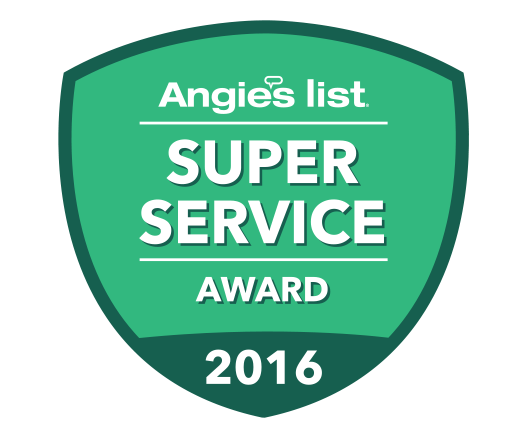 Blessing Landscapes wins Angie's List 2016 Super Service Award