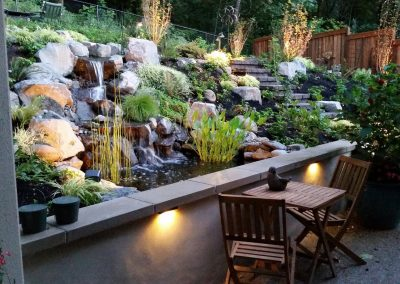 Stunning Patio-Edge Water Feature
